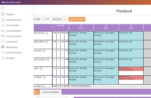 dehora webplanner personeelsplanning roosters online