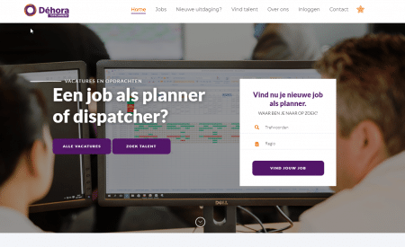 vacaturewebsite topplanners.be voor planners en dispatchers
